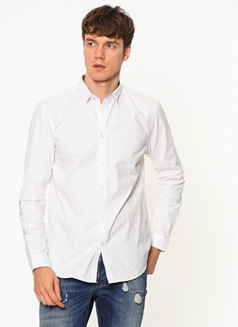 Jack & Jones Uzun Kollu Gömlek Beyaz